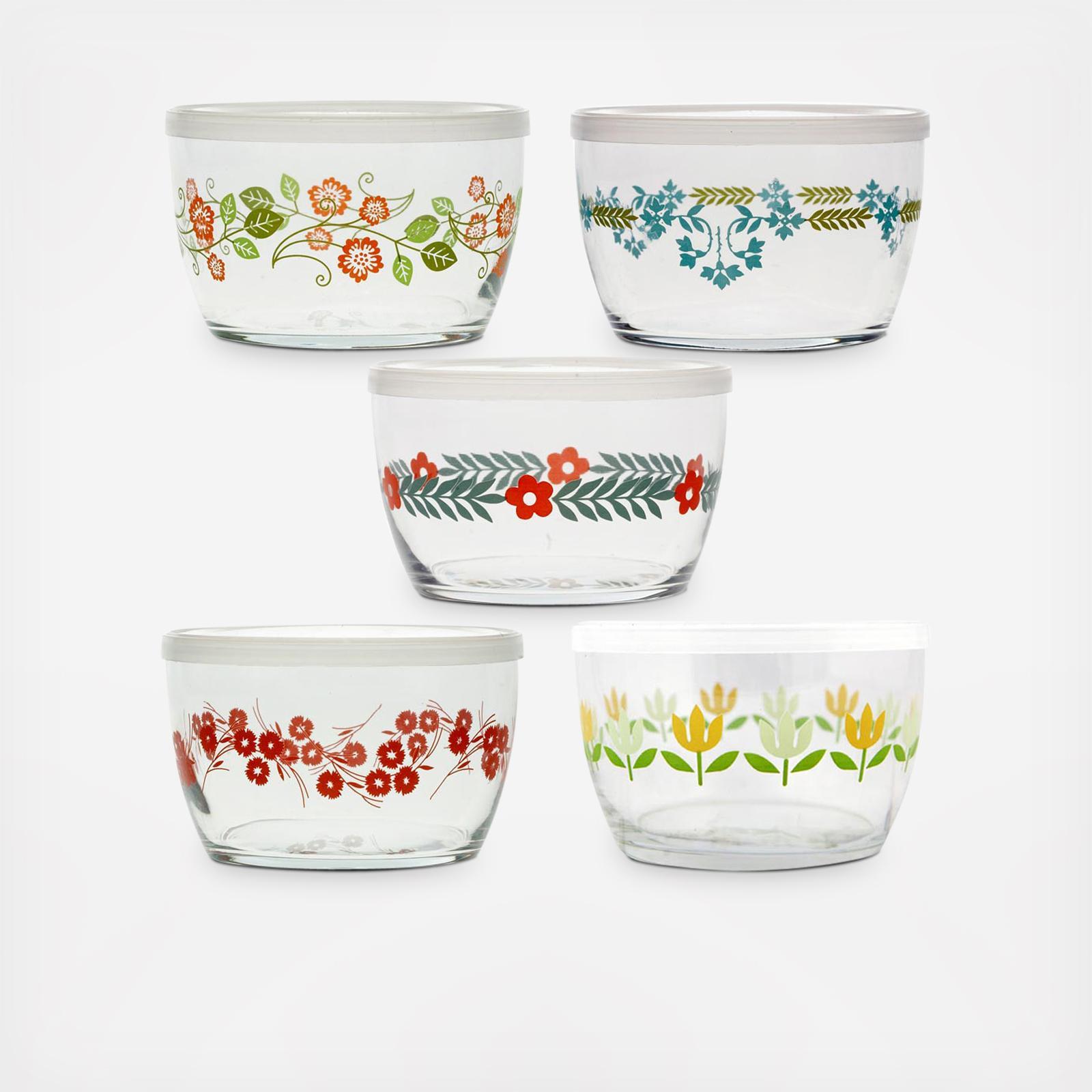 Vintage Flower Storage Bowl Set of 5 Zola