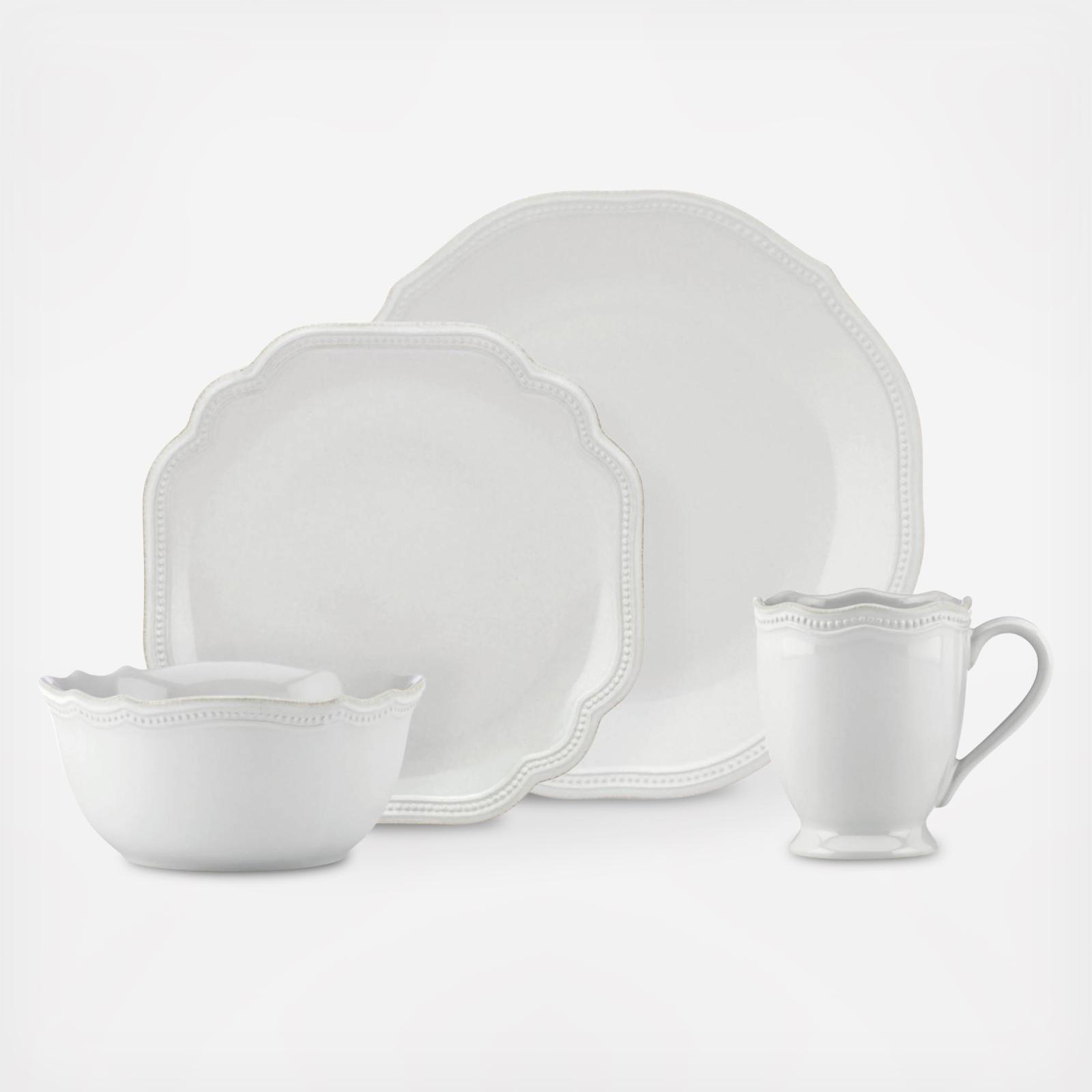 sc 1 st  Zola & French Perle Bead 4-Piece Place Setting | Zola