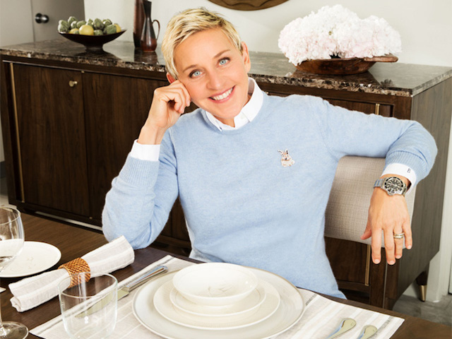 ED Ellen Degeneres on Zola Wedding Registry