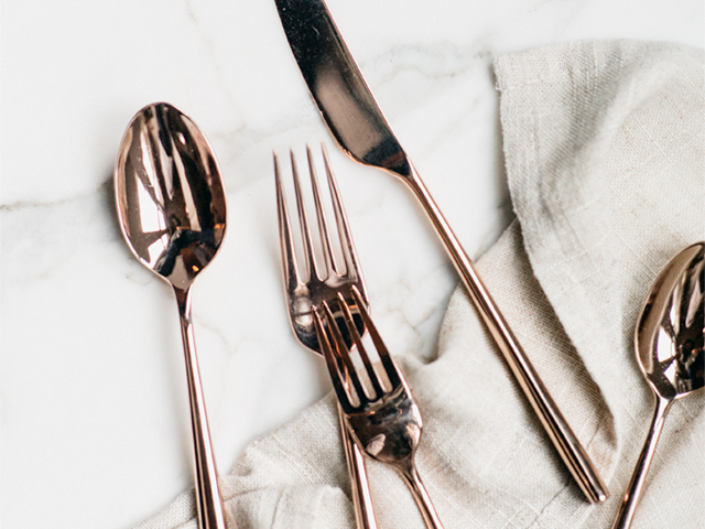 On Trend: Marble and Copper on Zola Wedding Registry