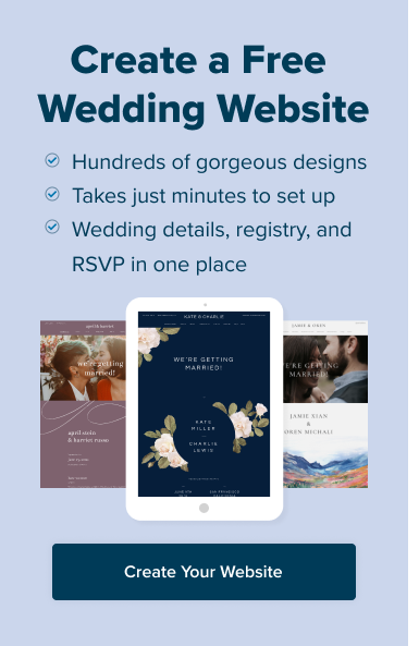 Create Your Free Wedding Website (Takes just minutes to set up!)