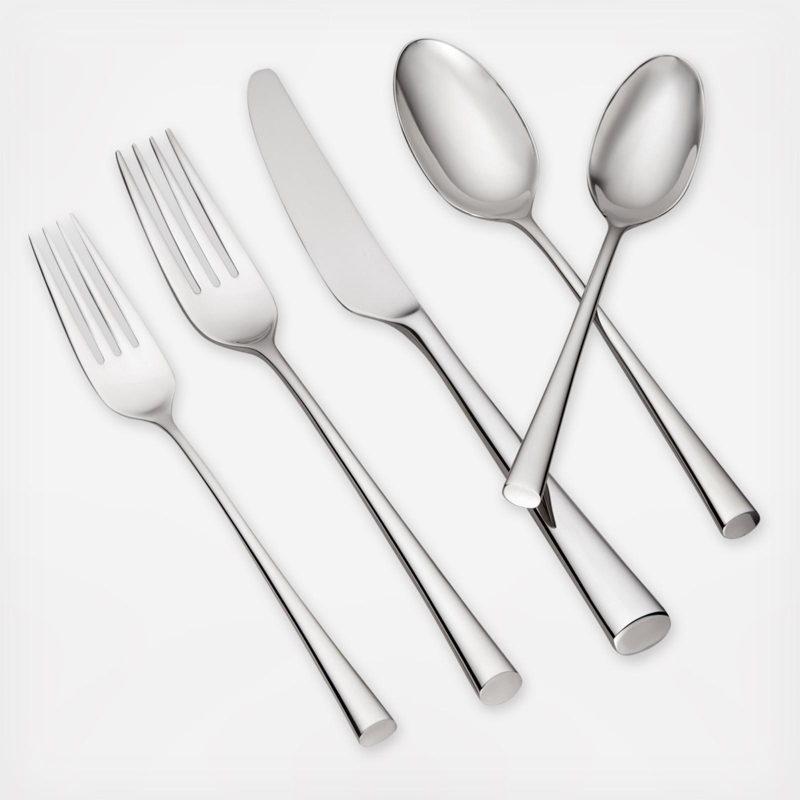 bistro cafe piece flatware set service for   zola -