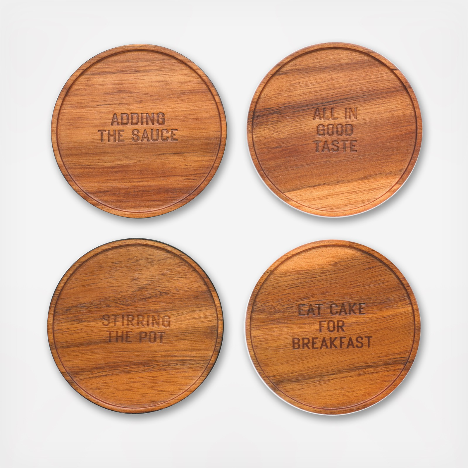 All In Good Taste Wood Coaster Set Of 4 By Kate Spade New York Zola