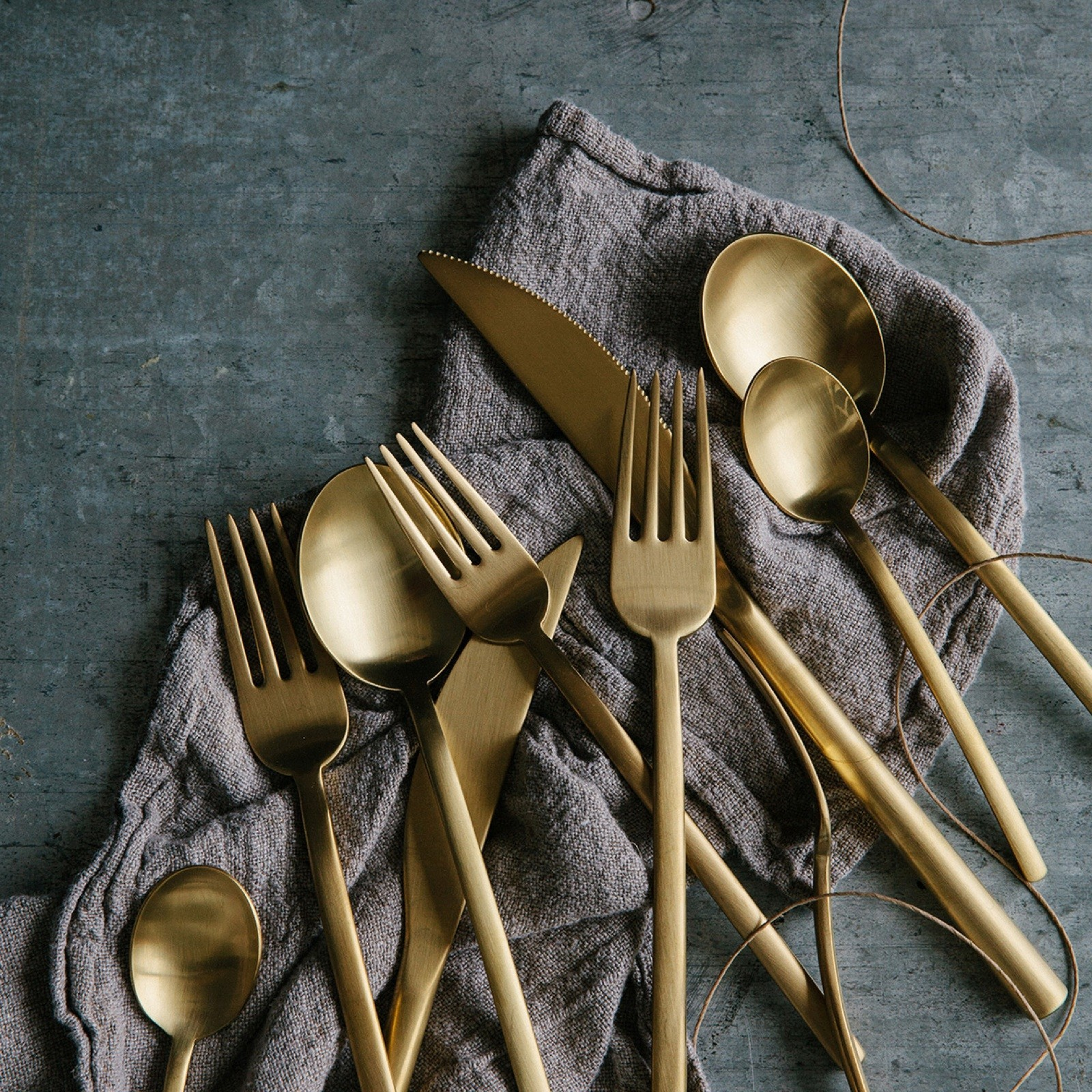 Due 5 Piece Flatware Set Service For 1 By Mepra Zola