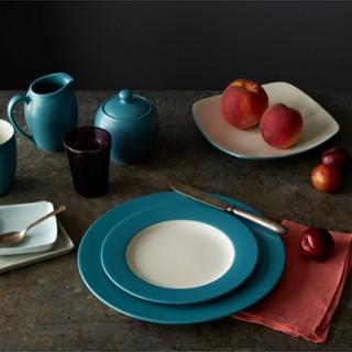 Colorwave Rim 16-Piece Dinnerware Set | Zola
