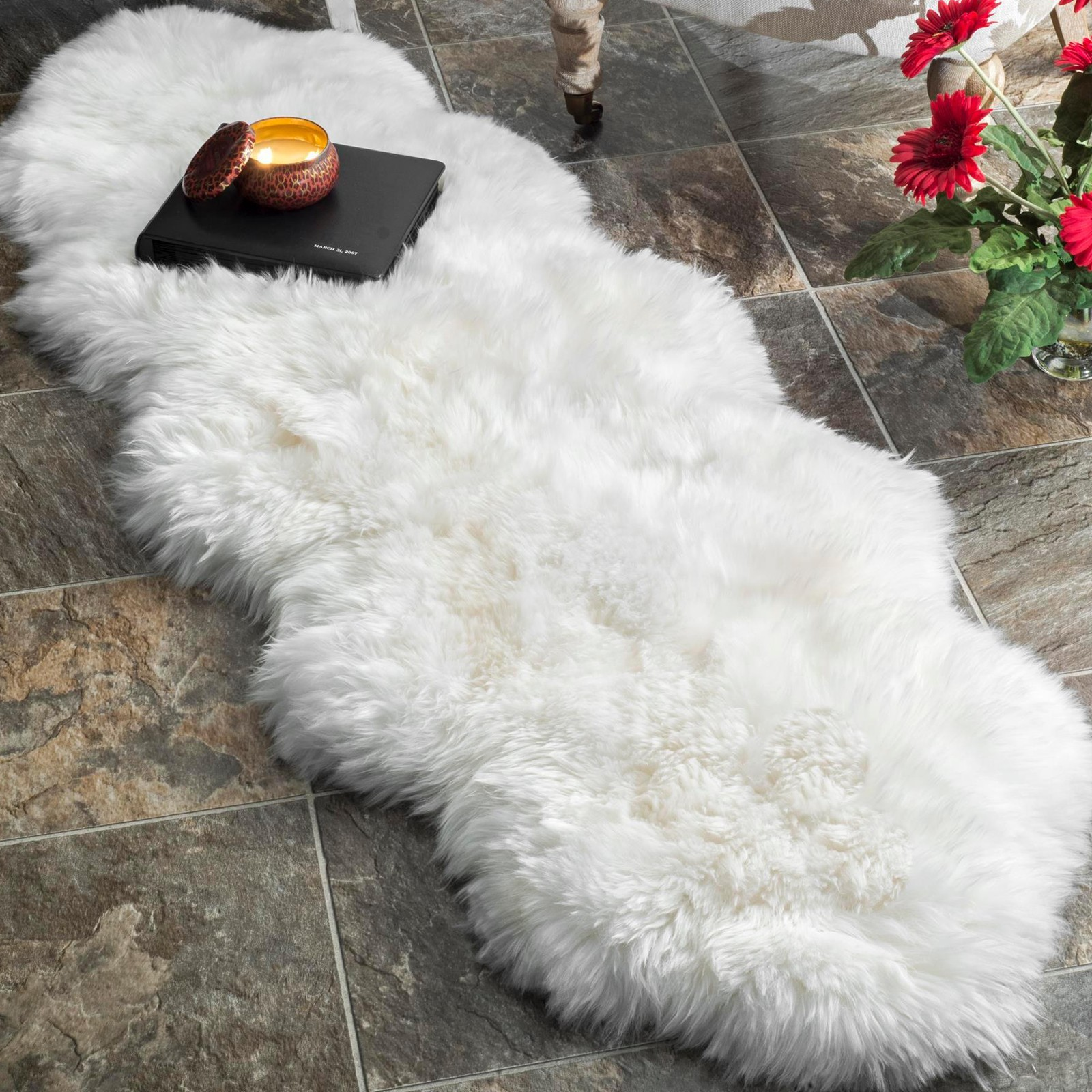 skin rug parker ivory sheepskin parkerwool products overhead sheep single wool