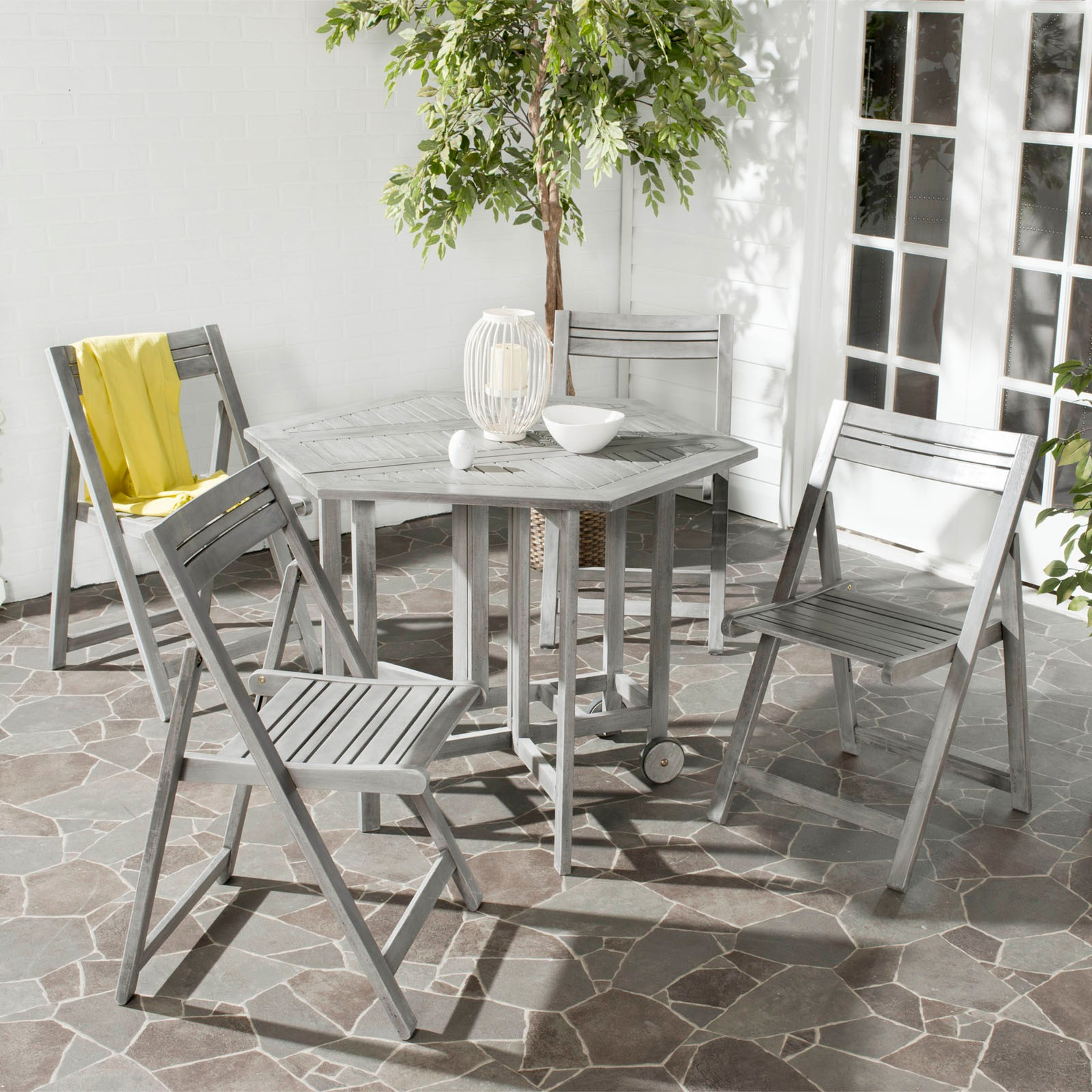 Outdoor Collapsible Dining Table Set Zola