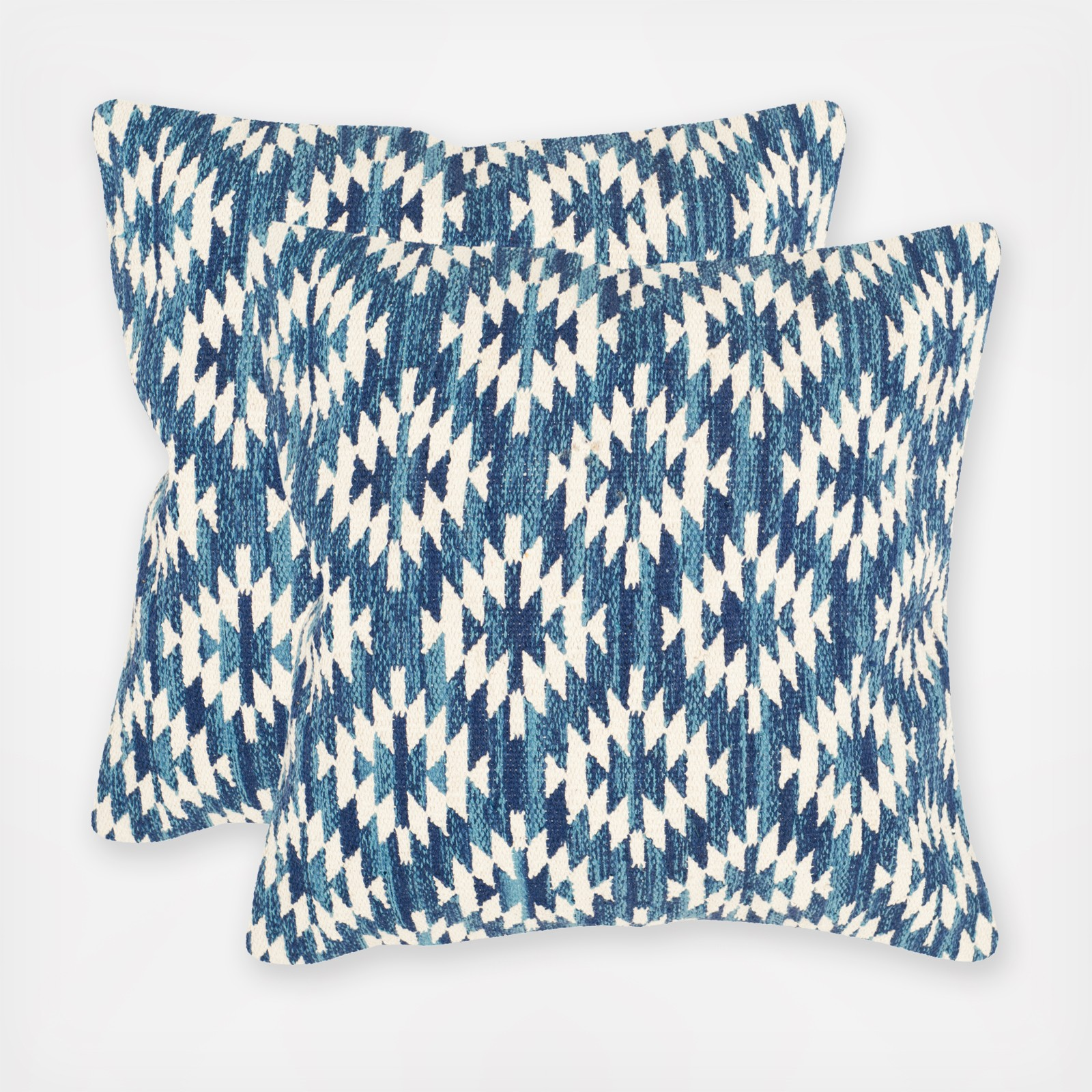 Southwestern square throw pillow set of 2 zola